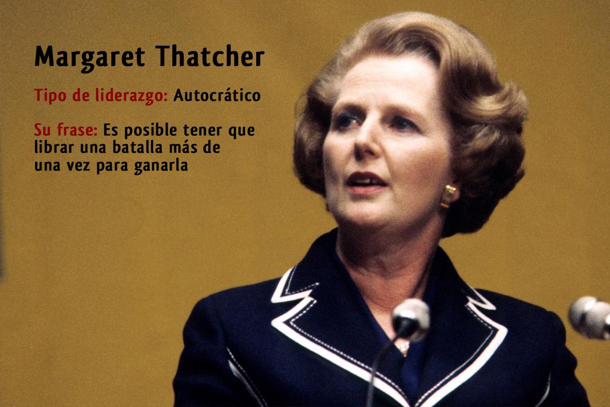 Tipo de liderazgo de Margaret Thatcher: Líder autocrático
