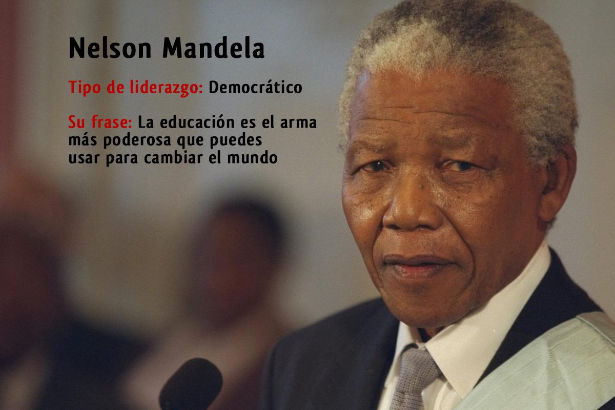 Tipo de liderazgo de Nelson Mandela: Líder democrático